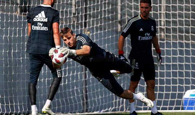Андрей Лунин, фото Реал Мадрид