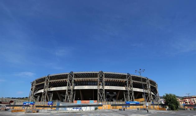 Стадио Сан-Паоло выглядит не очень привлекательно как изнутри, так и снаружи, Getty Images