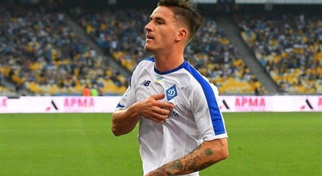 Беньямин Вербич празднует забитый мяч, фото ФК Динамо Киев