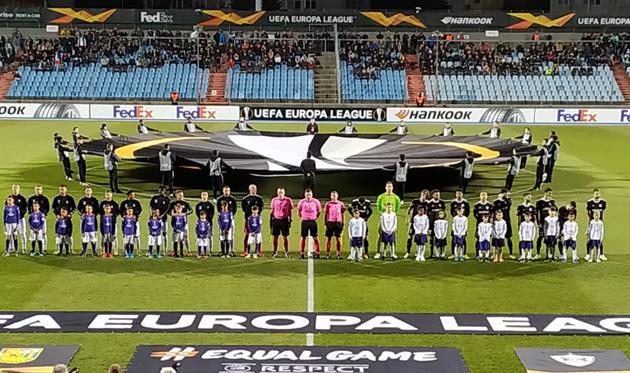 Команды перед матчем Дюделанж - Карабах, фото Карабах