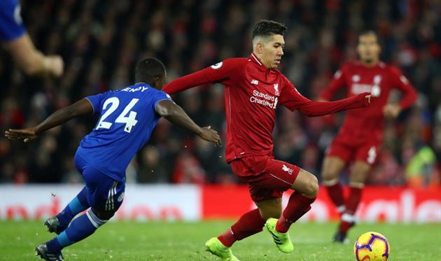 Ливерпуль в матче с Лестером, Getty Images
