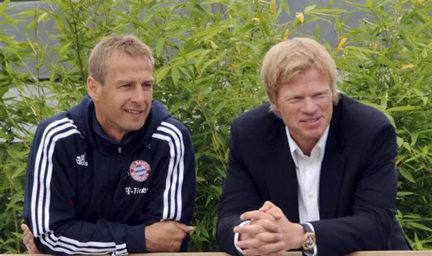 Юрген Клинсманн и Оливер Кан, фото ФК Бавария