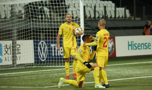 Румыния празднует забитый гол, фото: Echipa Națională