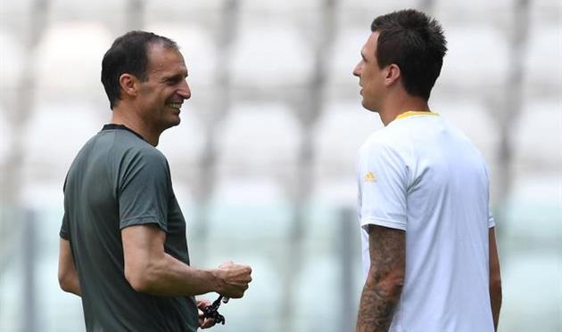 Массимилиано Аллегри и Марио Манджукич, Getty Images