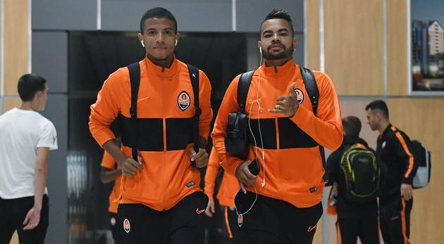 Маркиньос Сиприано (слева), фото ФК Шахтер Донецк