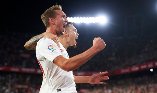 Севилья празднует победу, Sevilla FC