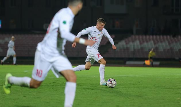 Денис Кожанов забил единственный гол в матче, фото ФК Волынь