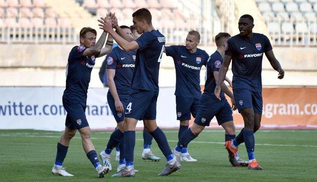 Празднование успеха игроками Мариуполя, фото ФК Мариуполь