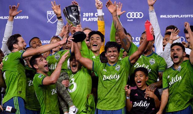 Сиэтл после победы в финале Западной конференции, Getty Images