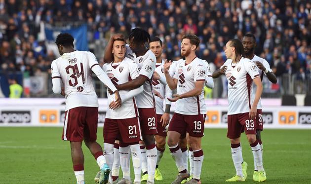 Торино празднует победу над Брешией, Getty Images
