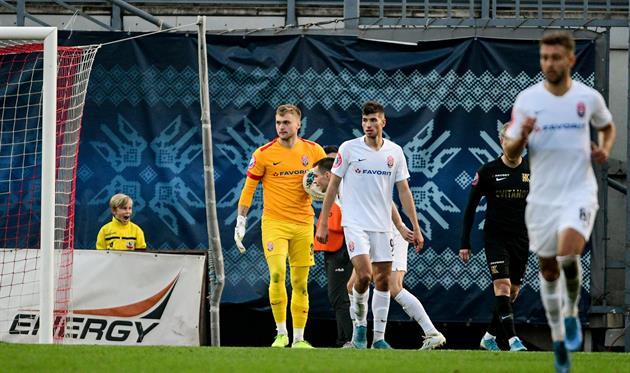 Никита Шевченко после взятого пенальти против Колоса, фото ФК Заря