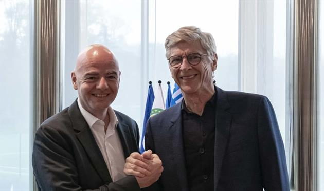 Джанни Инфантино и Арсен Венгер, фото ФИФА