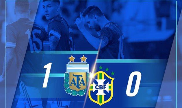 Аргентина минимально обыграла Бразилию в товарищеском матче