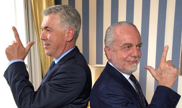 Карло Анчелотти и Аурелио Де Лаурентис настроены решительно, фото twitter.com/ADeLaurentiis