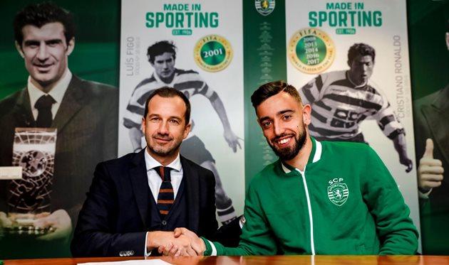 Бруну Фернандеш (справа), sporting.pt