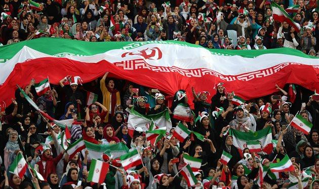 Иранские болельщицы, АР