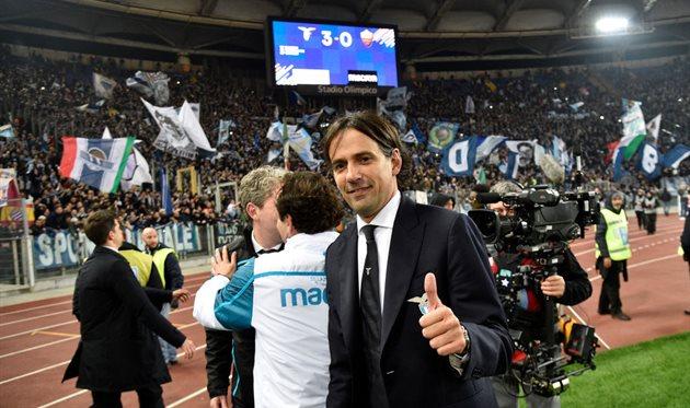 Симоне Индзаги после матча с Ромой, Getty Images