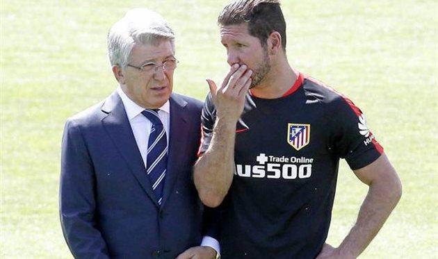 Энрике Сересо и Диего Симеоне, photo Atletico clube de Madrid
