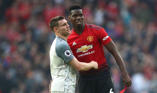 Поль Погба в матче с Ливерпулем, Getty Images