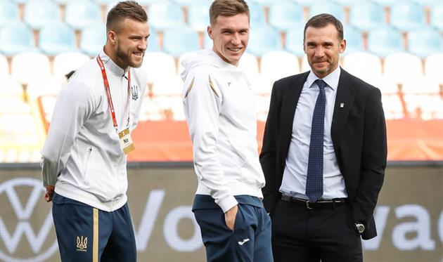 Андрей Ярмоленко, Сергей Сидорчук и Андрей Шевченко, фото getty images