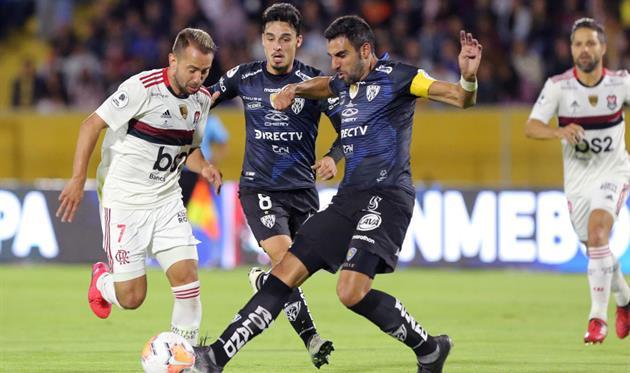 Игроки эквадорского Индепедьенте против Фламенго, фото getty images