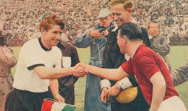 Фридрих Вальтер и Ференц Пушкаш, 1954 год, photo Fifa.com