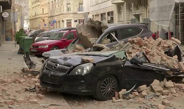 Землетрясение в Хорватии, ВВС