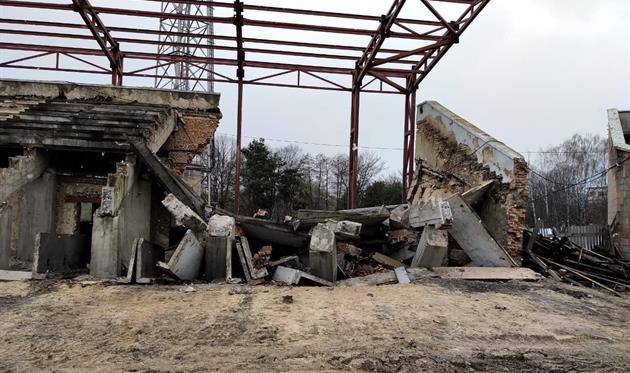 Обвалившаяся трибуна стадионе Авангард, Фото: ФК Верес