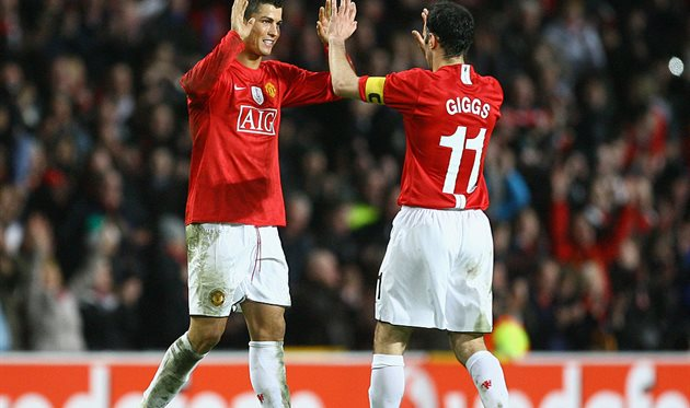 Роналду и Гиггз, Getty Images