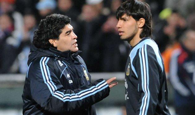 Диего Марадона и Серхио Агуэро, photo AFA