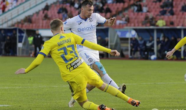 Артем Милевский в матче с БАТЭ, Фото: ФК Динамо-Брест