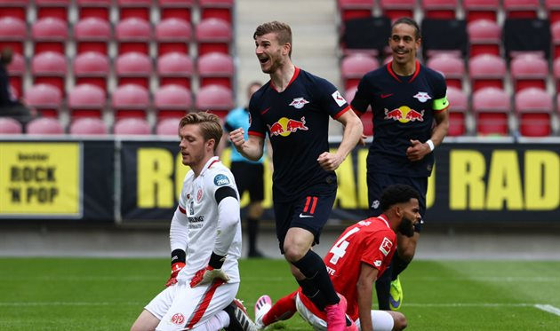 Тимо Вернер после гола в ворота Майнца, Getty Images