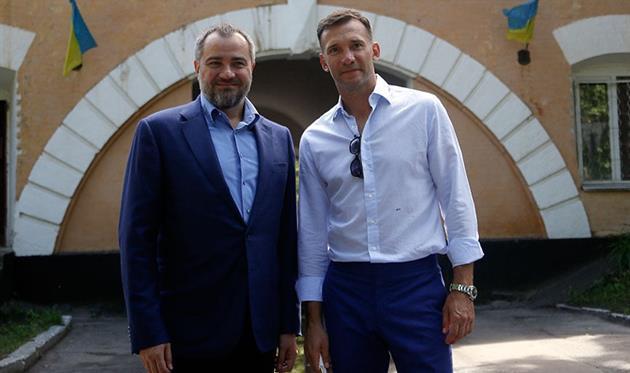 Андрей Павелко и Андрей Шевченко, facebook.com/andriy.pavelko