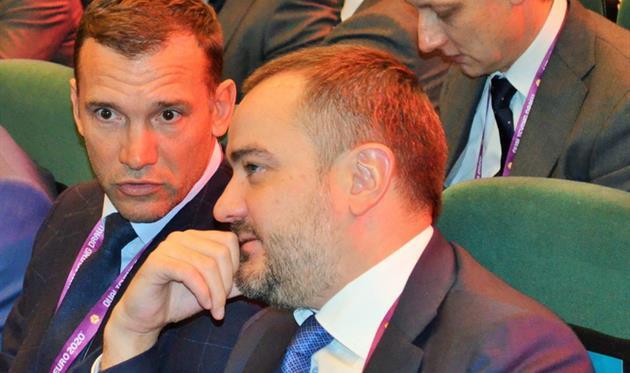 Андрей Шевченко и Андрей Павелко, фото УАФ
