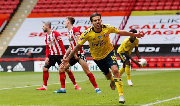 Дани Себальос - автор победного гола в матче с Шеффилд Юнайтед, Getty Images