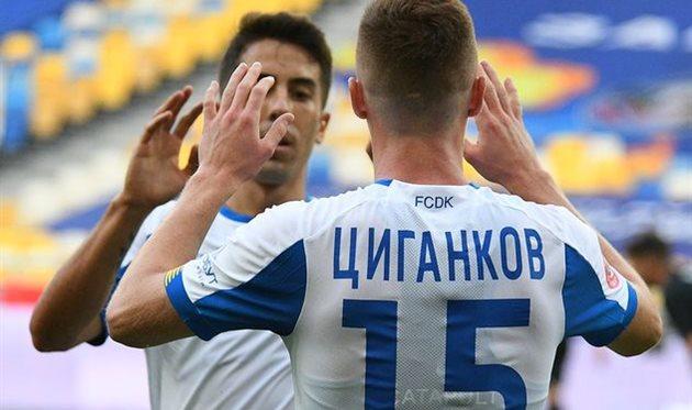 Динамо вышло на вторую позицию за счет победы над Зарей
