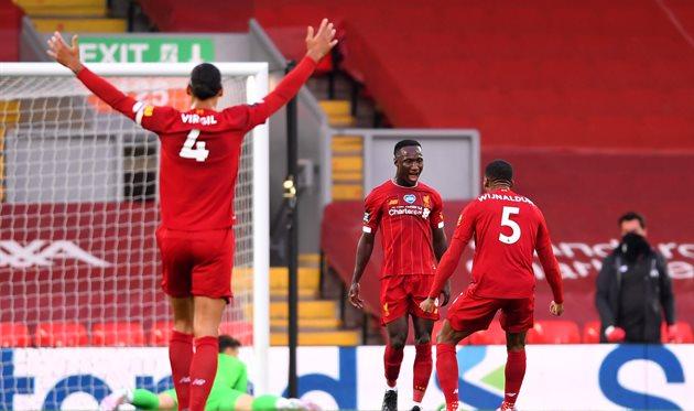 Наби Кейта празднует гол в ворота Челси, Getty Images