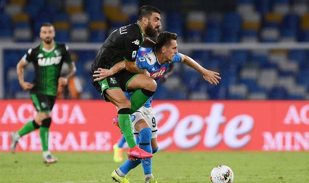 VAR отменил четыре гола Сассуоло в матче против Наполи