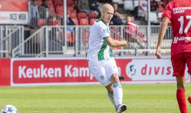 Роббен сыграл за Гронинген впервые после возвращения
