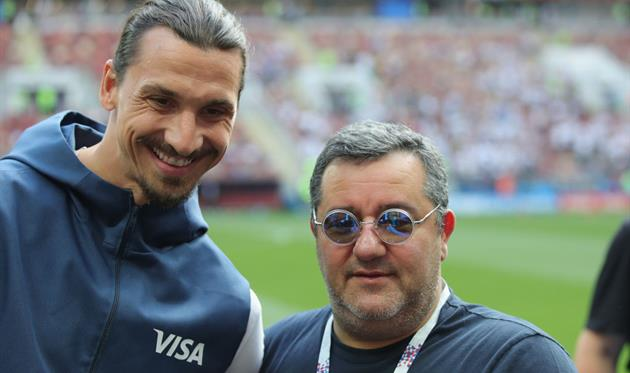 Златан Ибрагимович и Мино Райола, Getty Images