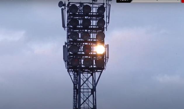 Матч Прикарпатье — Черноморец прерывали из-за отсутствия света на стадионе