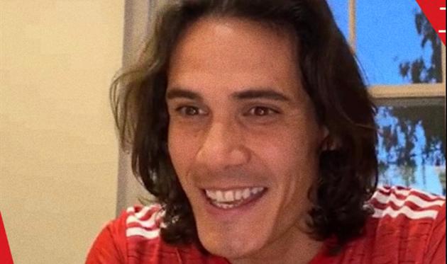 Эдинсон Кавани, скриншот видео ФК Манчестер Юнайтед