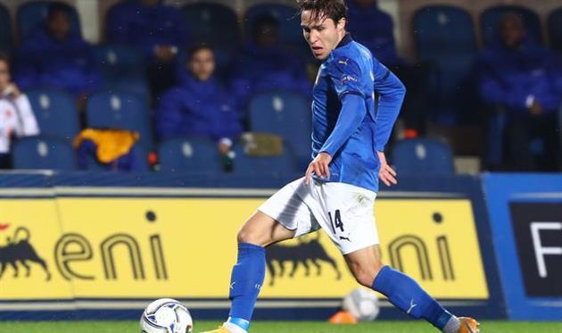 Федерико Кьеза в матче за сборную Италии, Getty Images