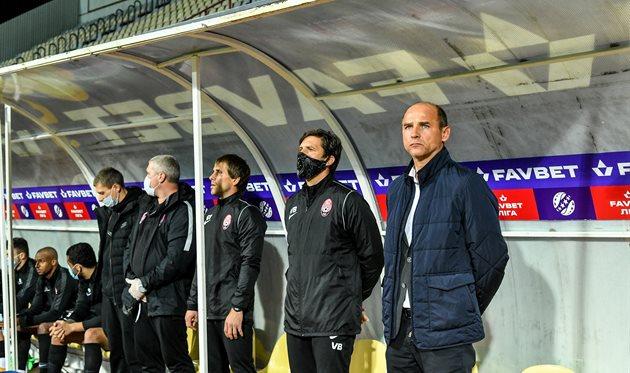 Виктор Скрипник и его тренерский штаб, фото Заря