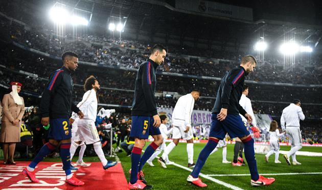 Барселона и Реал перед матчем, Getty Images