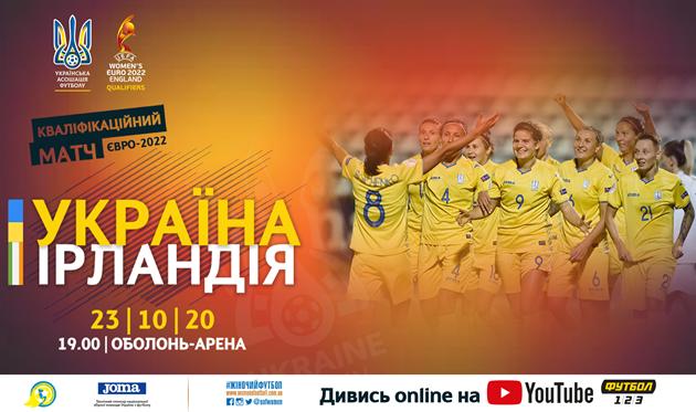 Евро-2022 среди женских сборных. Украина — Ирландия: прямая трансляция