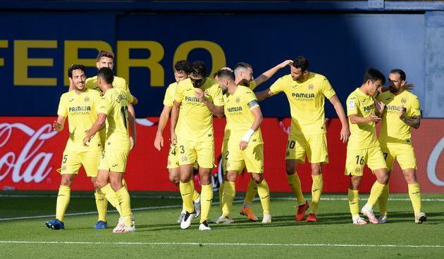 Празднование забитого мяча игроками Вильярреала, Getty Images