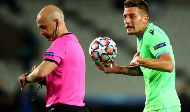 Сергей Милинкович-Савич в матче против Брюгге, Getty Images