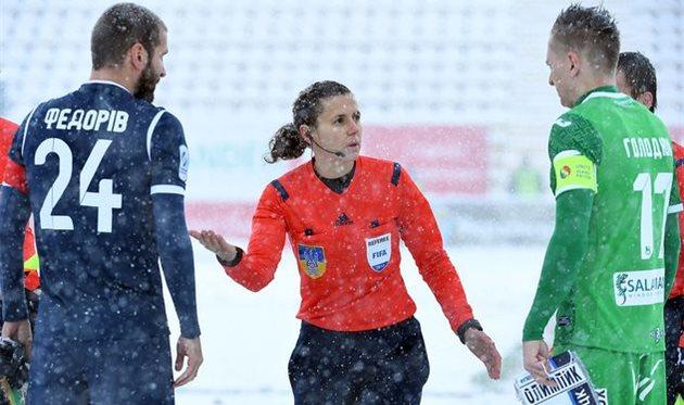 Екатерина Монзуль на матче Карпаты — Олимпик, фото УПЛ
