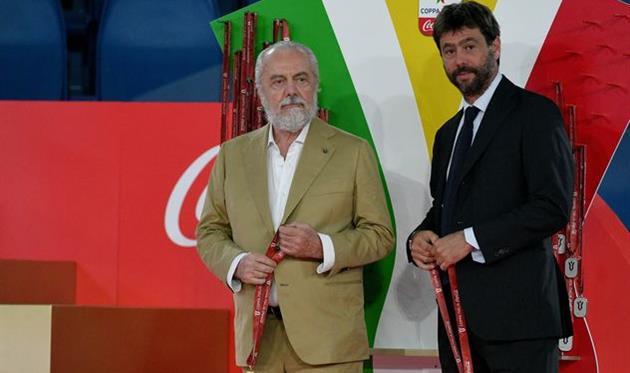Аурелио де Лаурентис (слева) и Андреа Аньелли (справа), Getty Images